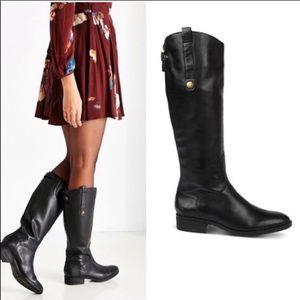 Sam Edelman Penny Black Leather Riding Boots
